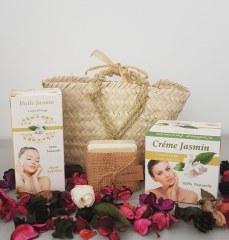 Coffret cadeau soins huile de jasmin crème et savon