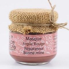 Masque à l'argile rouge et huile de figue de barbarie 125 grs