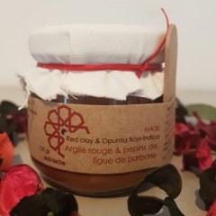 Masque argile rouge et pépins de figue de barbarie 130 gr