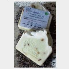 Savon argile blanche lavande et beurre de karité 100 grs